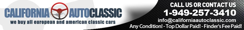 We Buy All Type Of Classic Cars